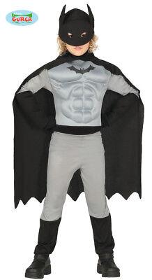 Costume Supereroe Bambino TG 5/6 Anni Travestimento Batman Carnevale Nuovo