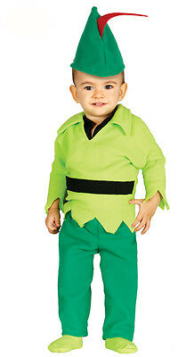 Baby Toddler Robin Hood Costume Kids Fancy Dress Outfit Age 6-12 & 12-24 Months