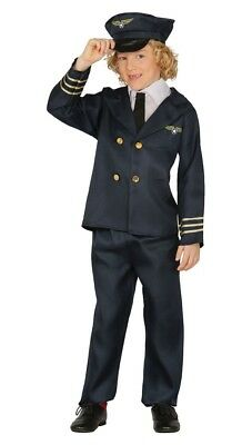 Boys Aviator Airline Pilot Job Occupation Uniform Fancy Dress Costume Outfit