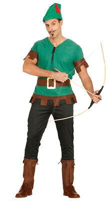 Bogenschütze Kostüm für Herren Robin Held grün Pfeil Hood Jäger Herrenkostüm M (Helden Kostüm Für Herren)