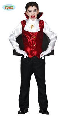 Guirca Graf Dracula Kostüm für Kinder Halloween Vampir (Blutsauger Kind Kostüm)