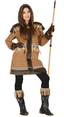 Eskimokostüm mit Fell Damenkostüm Alaska Island Eskimo - Eskimo Kostüme Damen