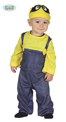 GUIRCA Costume vestito minion baby carnevale bambino bambina mod. 8762_