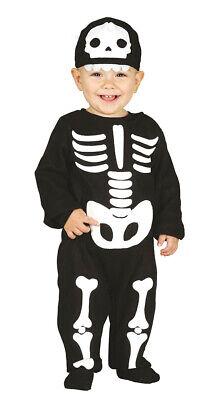 Baby Skelett Overall  Kostüm für Kinder Karneval Fasching Halloween Gr. 74 - 92