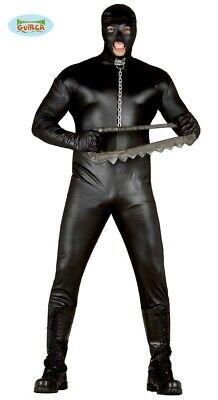 schwarzer Horror Mann Halloween Kostüm für Herren Ganzkörperanzug Gr. M - L