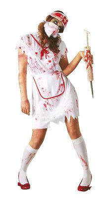 Krankenschwester Zombie Kostüm blutiges Halloween Zombiekostüm für Damen Gr. M-L