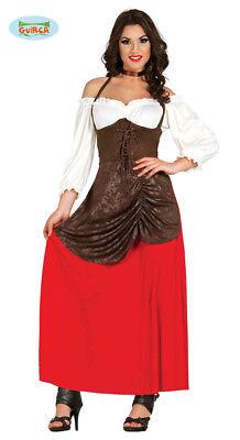 lalter - Magd Bäuerin Kostüm für Damen Karneval Fasching (Bäuerin Kostüm)