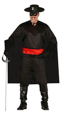 schwarzer Rächer Held von Spanien - Kostüm für Herren Karneval Fasching Gr. M - (Helden Kostüm Für Herren)
