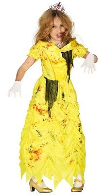 Girls Scary Zombie Belle Costume Kids Princess Kids Halloween Fancy Dress Outfit