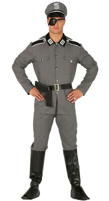 Mens German Soldier Costume 1940s WW2 Fancy Dress Army Officer Uniform M + L - Ww2 German Soldier Halloween Costumes