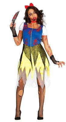 Zombie Schneewittchen Halloween Kostüm für Damen blutig Halloweenkostüm - Schwarz Halloween Kostüme Für Damen