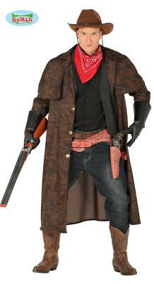 GUIRCA Costume cappotto cowboy west western carnevale uomo TG 52/54