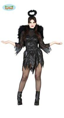 schwarzer Todes Engel Halloween Karneval Motto Party Kostüm - Engel Kostüme Für Damen
