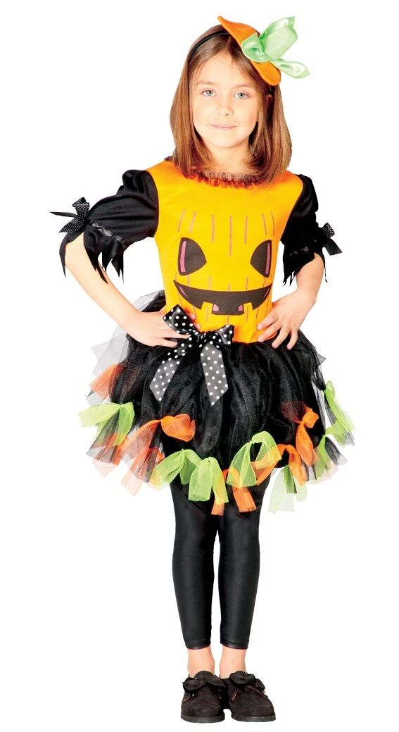 Scary Halloween Costumes For Kids Girls Uk.Details About Girls Scary Evil Pumpkin Halloween Tutu Fancy Dress Costume Outfit 5 12 Years