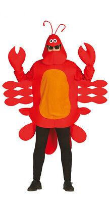 Hummer Kostüm für Erwachsene Herrenkostüm Tierkostüm Krabbe Krebs rot Gr. M/L