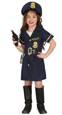 Mädchen Polizei Damen Uniform Job Beruf Kostüm Kleid Outfit 3-12 - Mädchen Polizei Uniform Kostüm