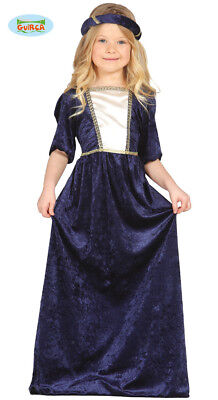 Königin Mittelalter Kostüm Edle Dame Burgfräulein - Alte Dame Kostüm Kinder