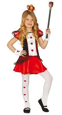Mädchen Königin der Herzen Alice im Wunderland Büchertag Kostüm Kleid Outfit