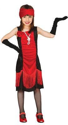 20er Jahre Charleston Flapper Kleid in rot für - Flapper Kleid Für Mädchen