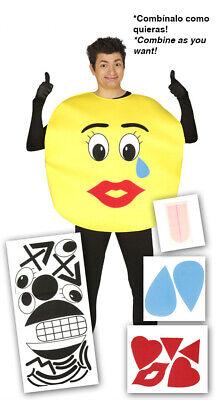 Emoticon Kostüm für Erwachsene Karneval Fasching Party Stimmung - Party Kostüme Für Erwachsene