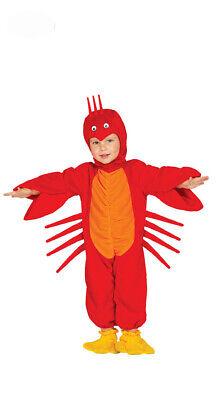 Baby Hummer - Kostüm für Kinder Karneval Fasching Krebs rot Tier Languste Gr 86-