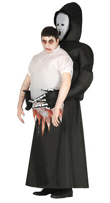 Grim Reaper Death on my Back Inflatable Carry Halloween Adult Costume Lift Me Up