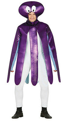 Adult Sponge Bob Costume (Adult Silly Octopus Costume Squid Mens Ladies Sealife Fancy Dress Outfit)