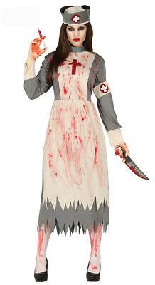 Ladies Halloween Zombie Dead Bloody Nurse Fancy Dress Costume New 12-14 (Dead Nurse Costume)
