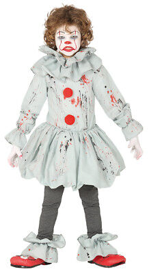 Boys Halloween Crazy Clown Costume Kids Pennywise Fancy Dress Horror Evil Killer - Evil Child Halloween Costume
