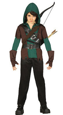 Kids Green Arrow Costume Boys Robin Hood Fancy Dress Outfit Assassin Age 4-12 - Childrens Robin Hood Costume
