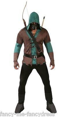 Mens 5 Pc Dark Archer Robin Hood Halloween - Dark Robin Hood Kostüm