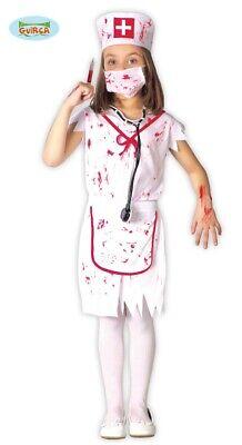 Zombie Krankenschwester Mädchen Kostüm Kinderkostüm Halloween blutig Gr. 110-146