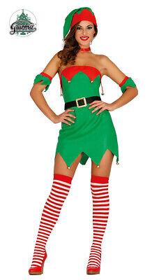 Costume Elfo Travestimento Donna Carnevale Aiutante di Babbo Natale Teatro Nuovo