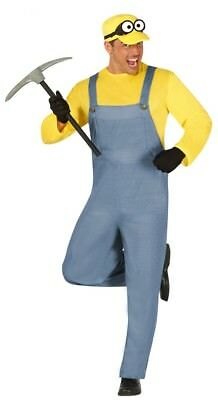 Adult Costume Uk (Adult Mens Yellow Minion Costume Fancy Dress Outfit UK Sizes)