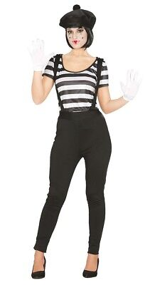 Adult Mime Artist Silent Movie Halloween Costume Circus Carnival Outfit](1960's Halloween Movies)