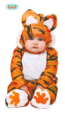Baby Tigerkostüm für Kinder Babykostüm Tiger Kostüm Tierkostüm Safari Gr. 74-92