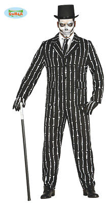 GUIRCA Costume vestito scheletro smoking halloween carnevale uomo mod. 8448_