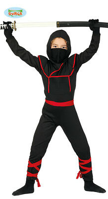 Guirca Kostüm Ninja Samurai Krieger Kämpfer für Kinder Karneval