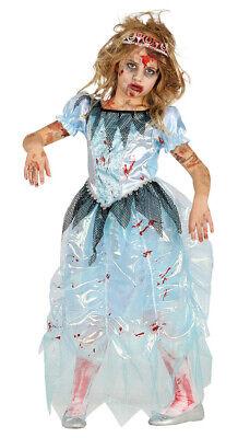 Blaue Zombie Prinzessin für Kinder Halloween Tod Kinderkostüm - Blaue Halloween Kostüme