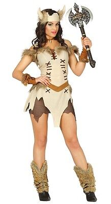 Ladies Sultry Viking Historical Carnival Hen Do Fancy Dress Costume Outfit