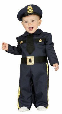 Boys Girls Toddlers Baby Police Officer Cop Fancy Dress Costume Infants - Toddler Girl Police Officer Costume