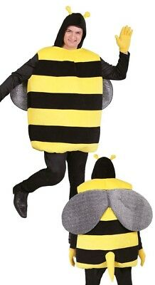 Mens Bumble Bee Long Stag Do Night Fun Animal Insect Fancy Dress Costume Outfit