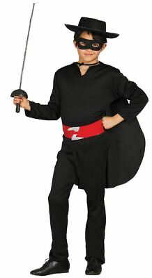 Boys Bandit Zorro Masked Hero Fancy Dress Costume Childrens Outfit - Zorro Dress