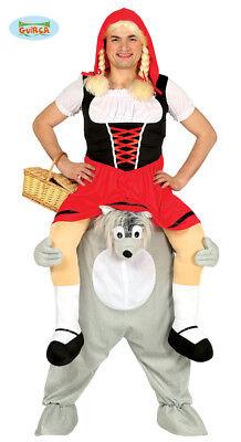 Rotkäppchen Wolf Märchen Huckepack Kostüm Herren