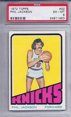 1972 Topps Basketball   32 Phil Jackson Hof Ex Mt Psa 6