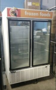 Double door glass freezer(Used)