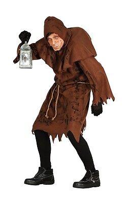 Hunchback Of Notre Dame Monk Mens Fancy Dress Costume Quasimodo Halloween Outfit - Hunchback Halloween Costume