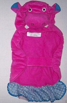 Padded Plush Pink Hippo Costume Sz Medium Dog Cat Halloween - Pink Hippo Dog Halloween Costume