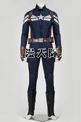 Captain America 2 Winter Soldier cosplay Kostüme Halloween Avengers Steve (Captain America Kostüm Winter Soldier)