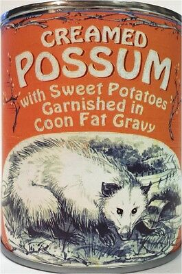 Creamed Possum in Coon Fat Gravy! Garnished with Sweet Potatoes of Course! (BB)